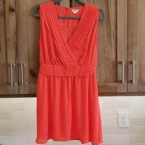 Peach summer dress, sz L